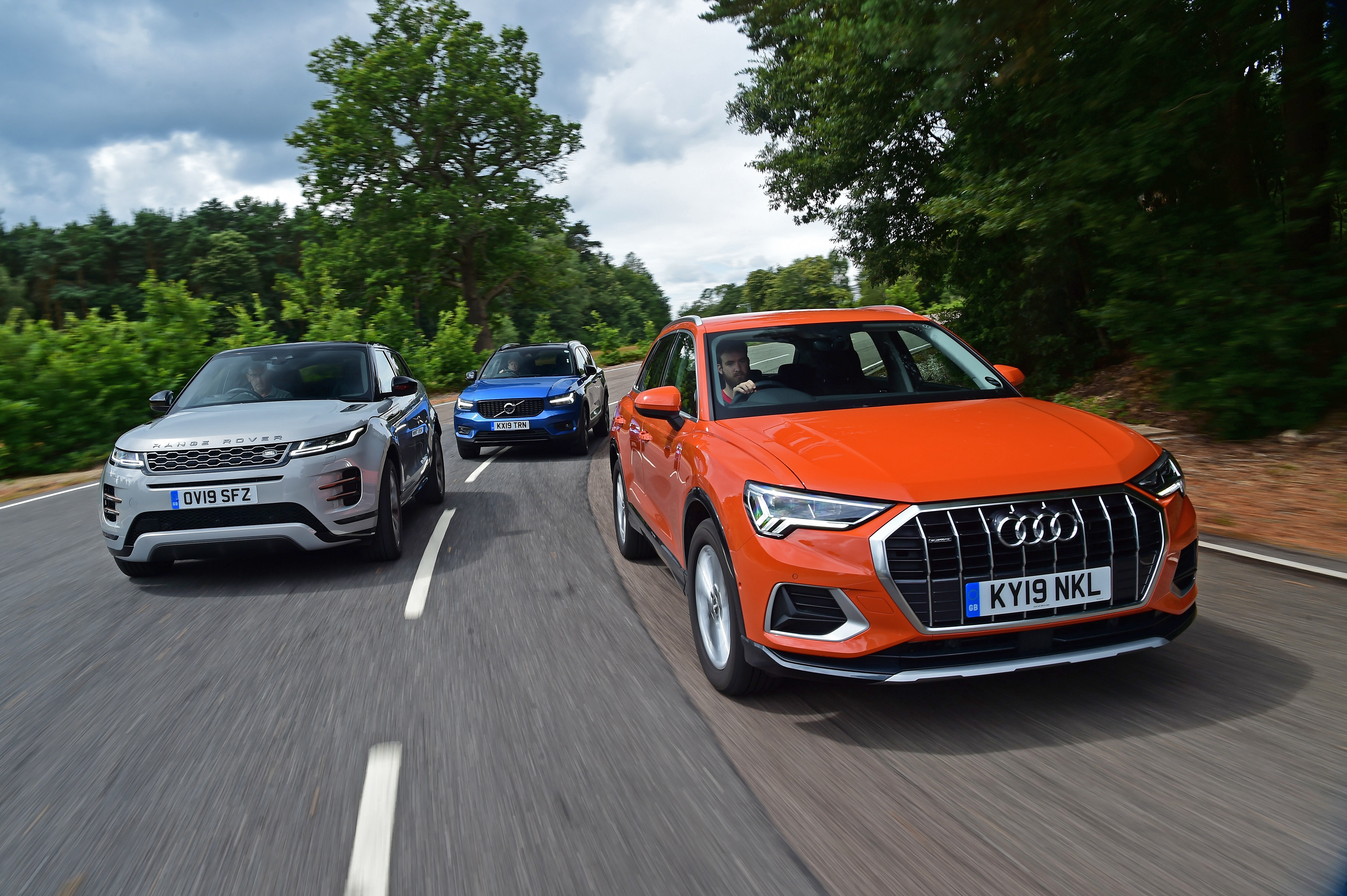 Audi Q3 vs Range Rover Evoque vs Volvo XC40